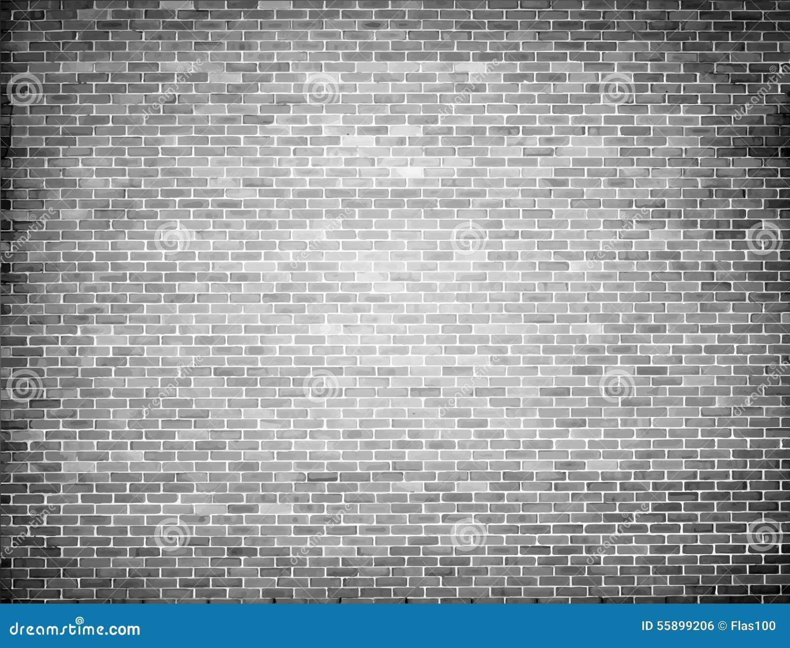 Grunge Brick Wall Texture  Vector Background Stock Vector