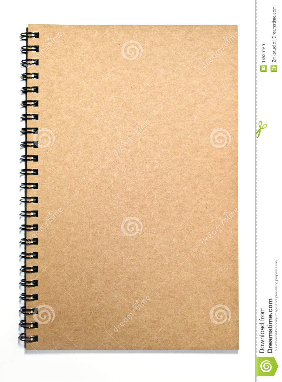 Notebook Cover Background : Grunge brown cover notebook isolated stock photo image