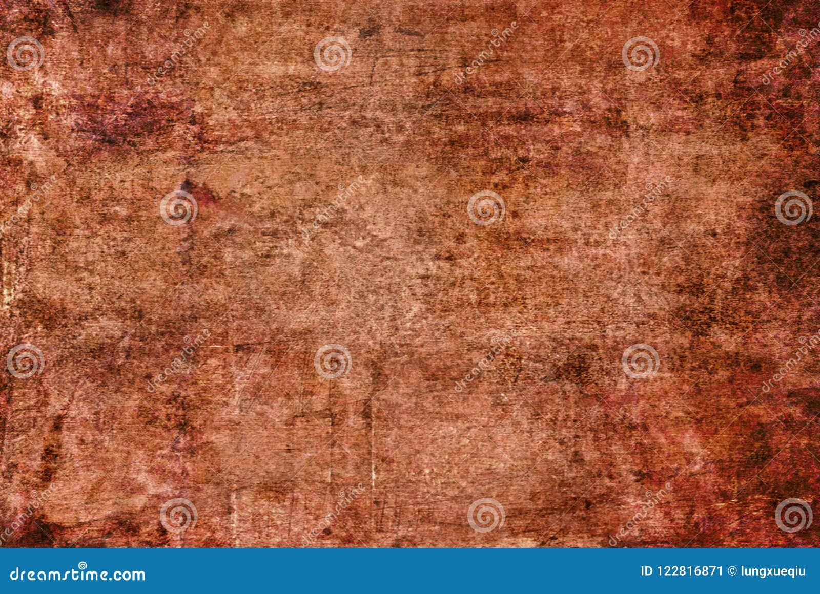 Grunge Brown obrazu tekstury wzoru jesieni tła Ciemna Żółta Czerwona Pomarańczowa Ośniedziała Zniekształcająca Rozpadowa Stara Ab