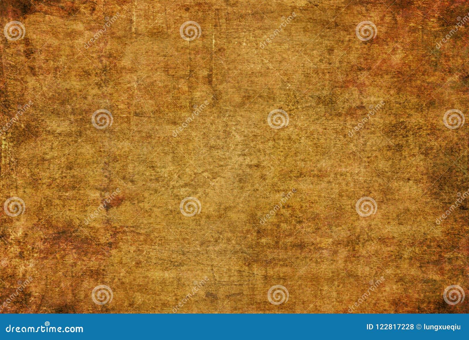 Grunge Brown obrazu tekstury wzoru jesieni tła Ciemna Żółta Pękająca Ośniedziała Zniekształcająca Rozpadowa Stara Abstrakcjonisty