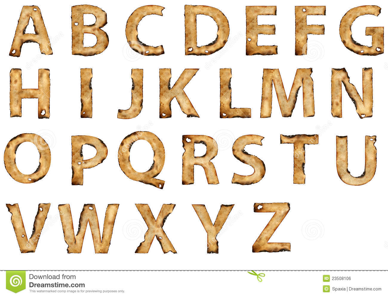 Torn paper and cardboard abc cartoon vector for Alphabet letters cardboard