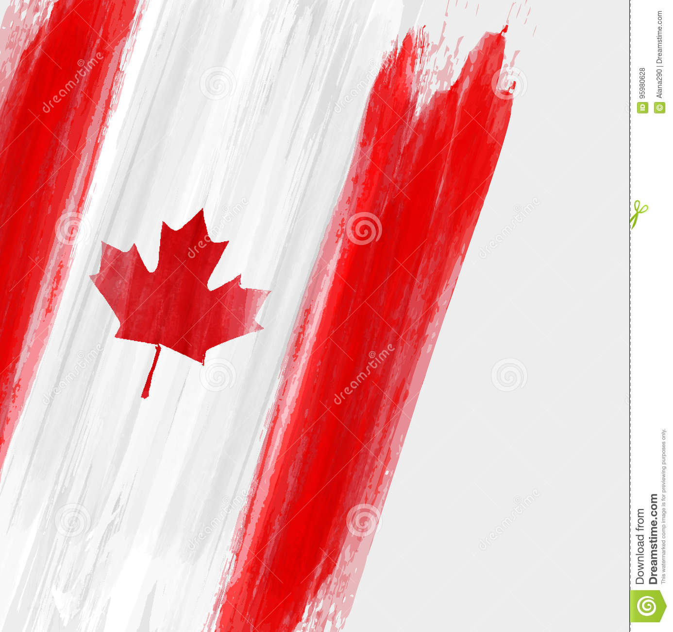 grunge canada flag background stock vector image 95980628