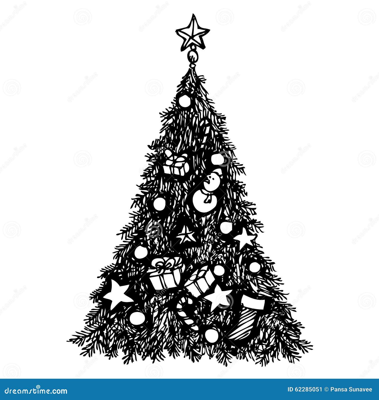 Grunge Christmas Tree Stock Vector - Image 62285051