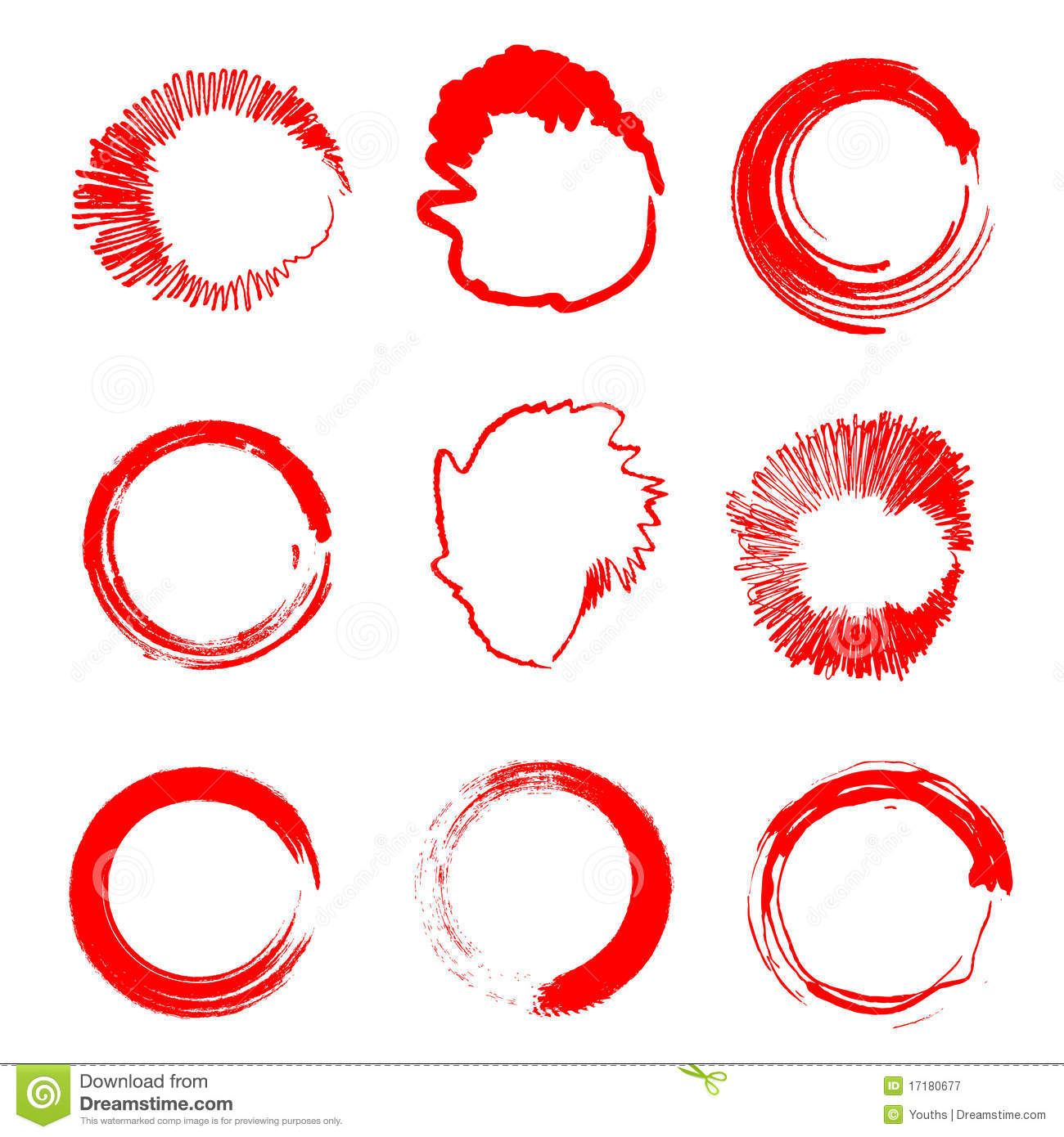 Grunge circle stains (Vector)