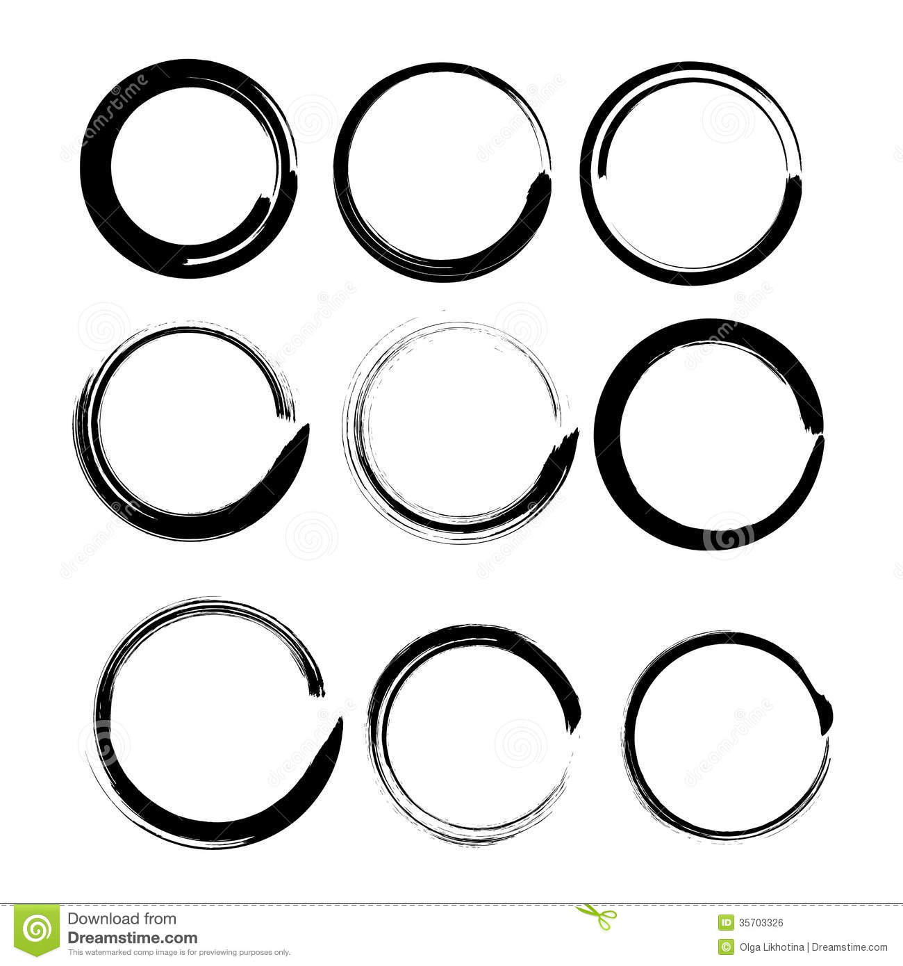Grunge circles for black paint.