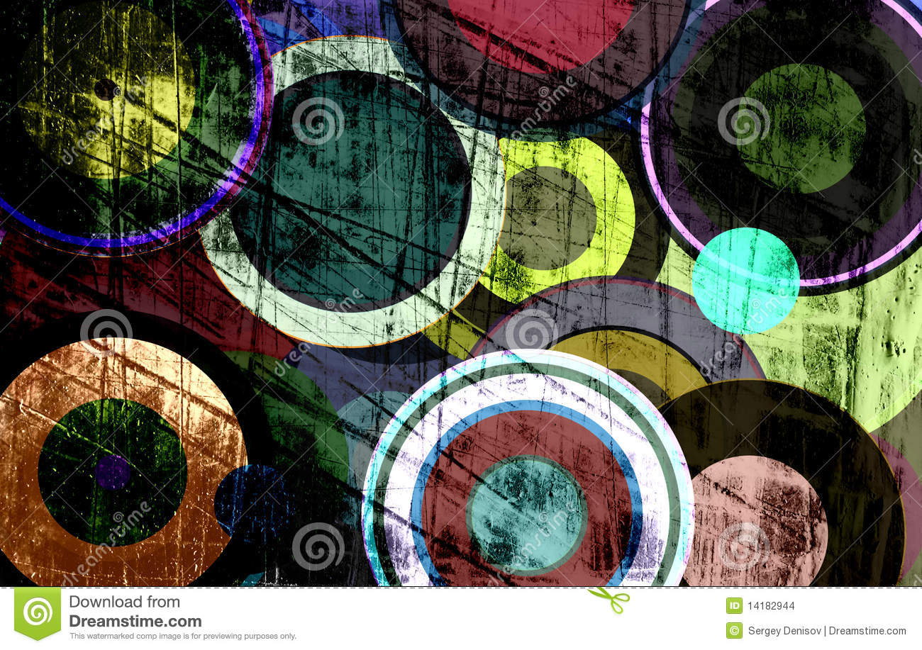 Grunge circles on the wall