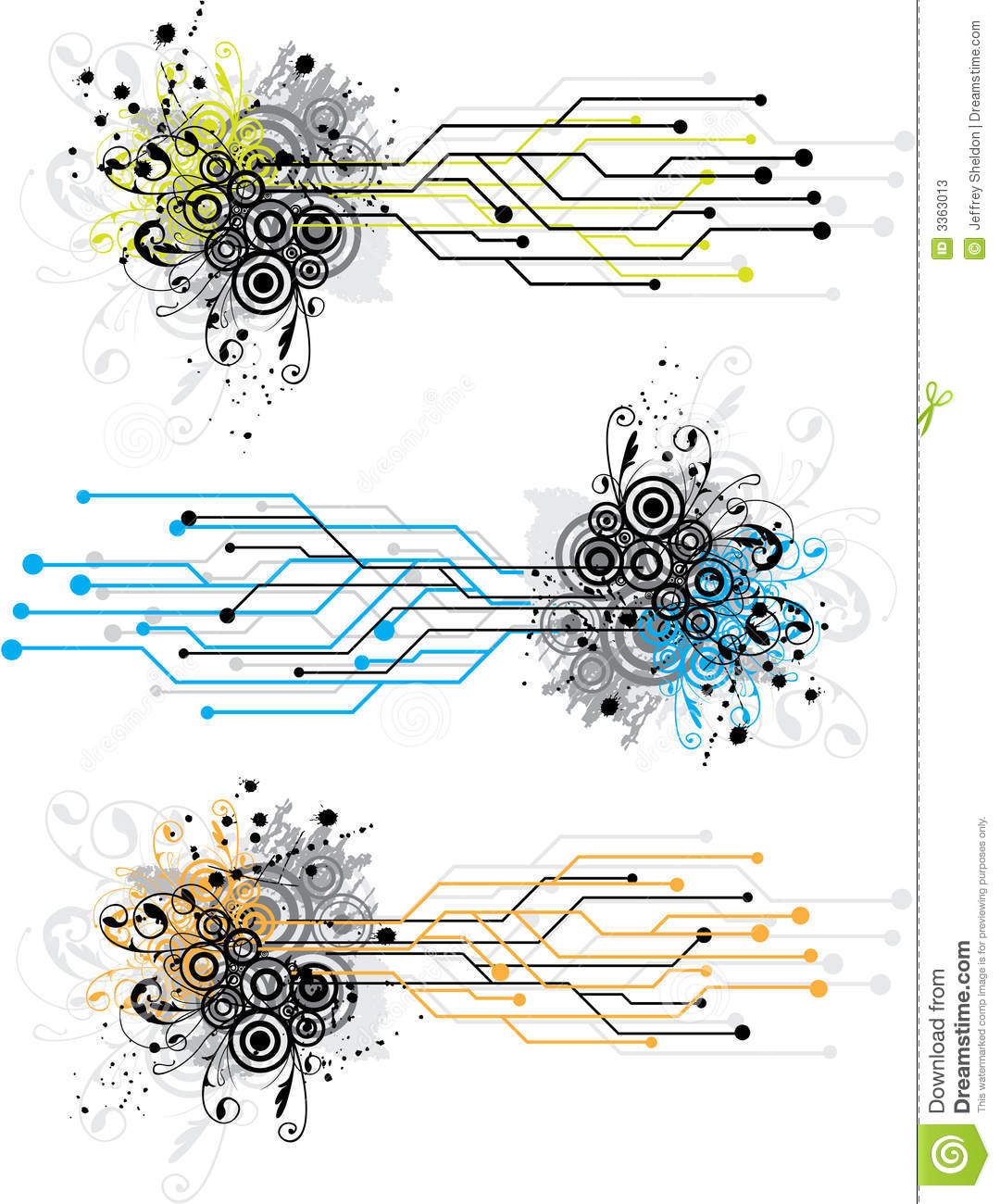 grunge circuit board design stock vector image 3363013