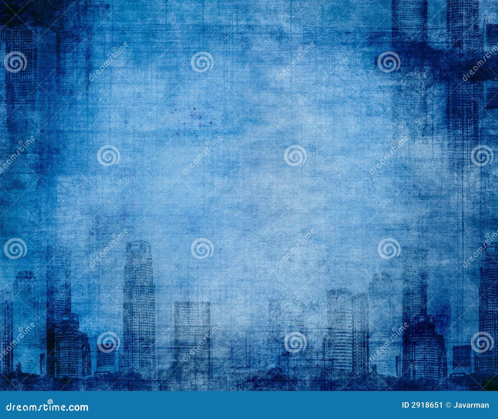 Grunge city blue