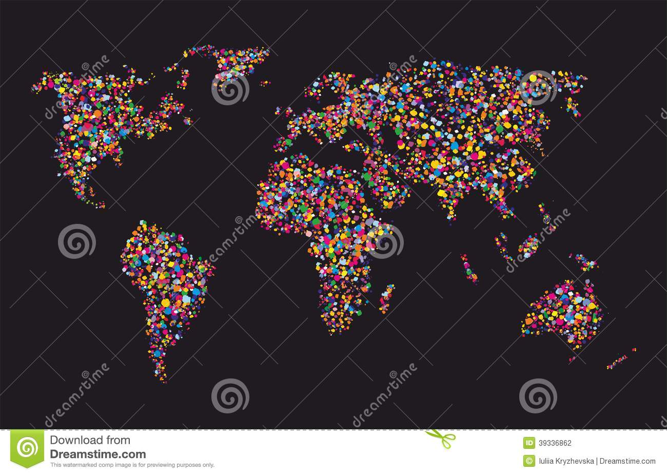 Grunge colourful collage of world map vector stock vector grunge colourful collage of world map vector gumiabroncs Image collections