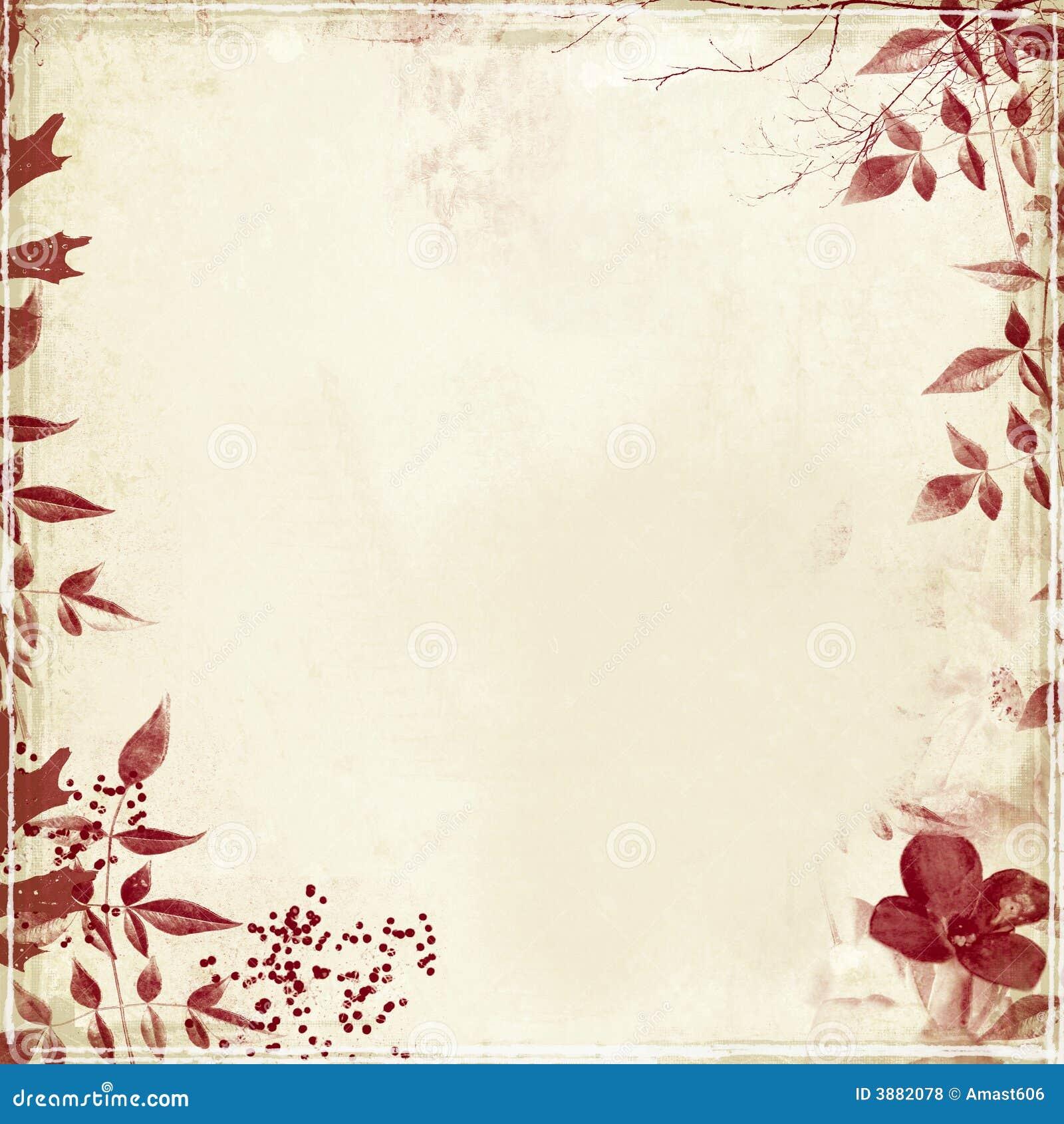 Grunge com folha e flor
