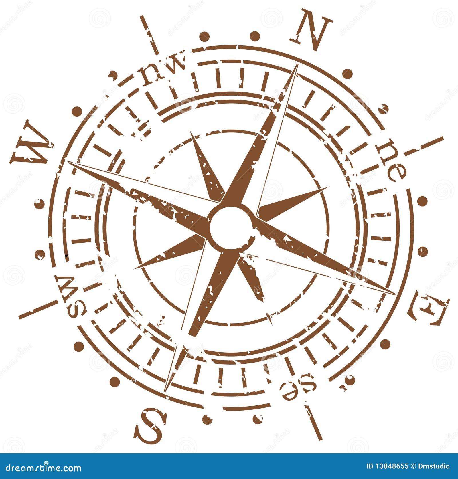 Grunge compass Compass