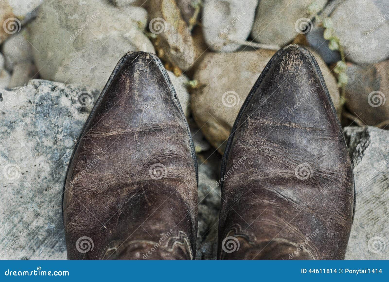 Grunge Cowboy Boots Stock Photo - Image: 44611814