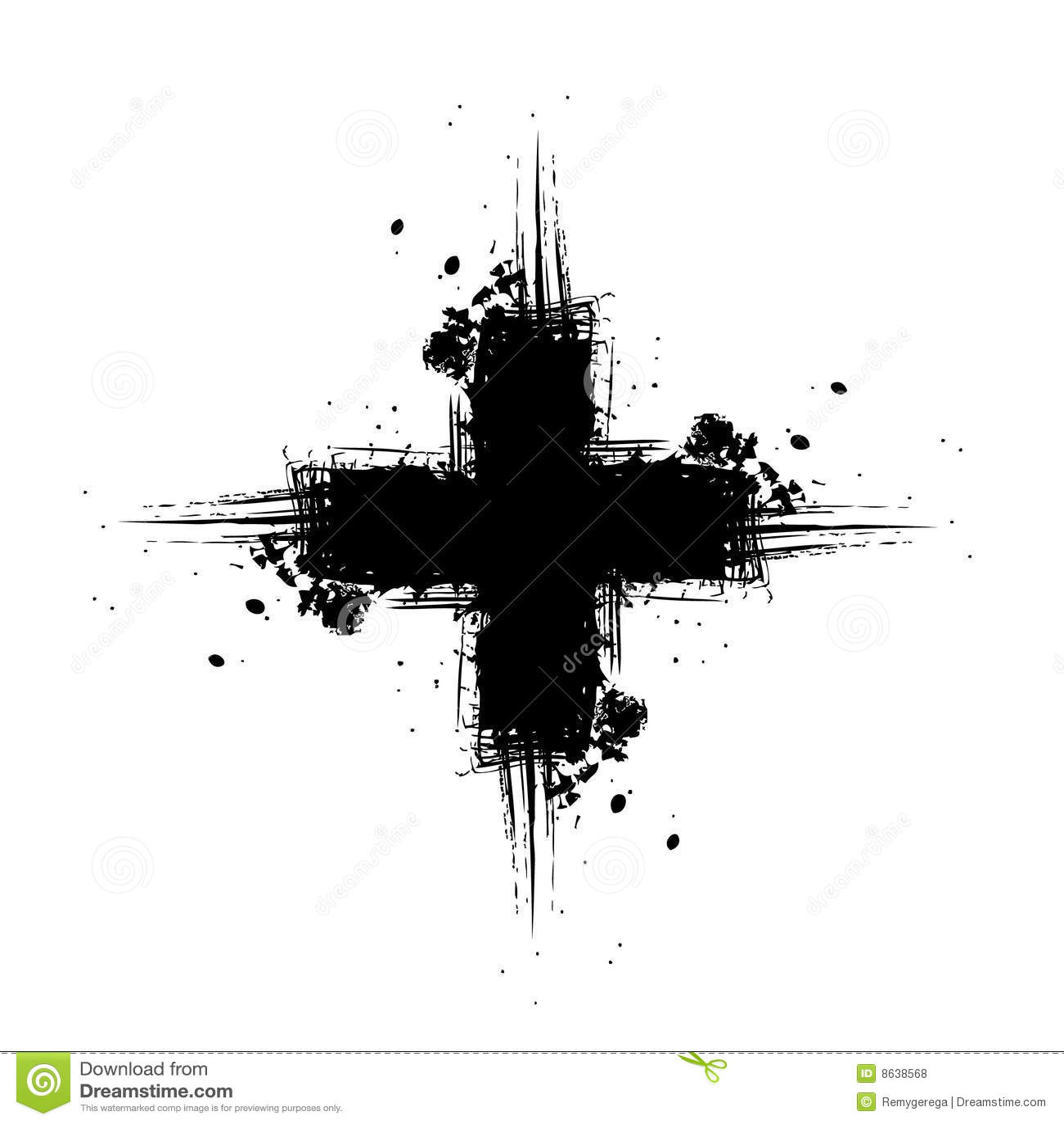 grunge cross stock illustration  image of isolated  spill