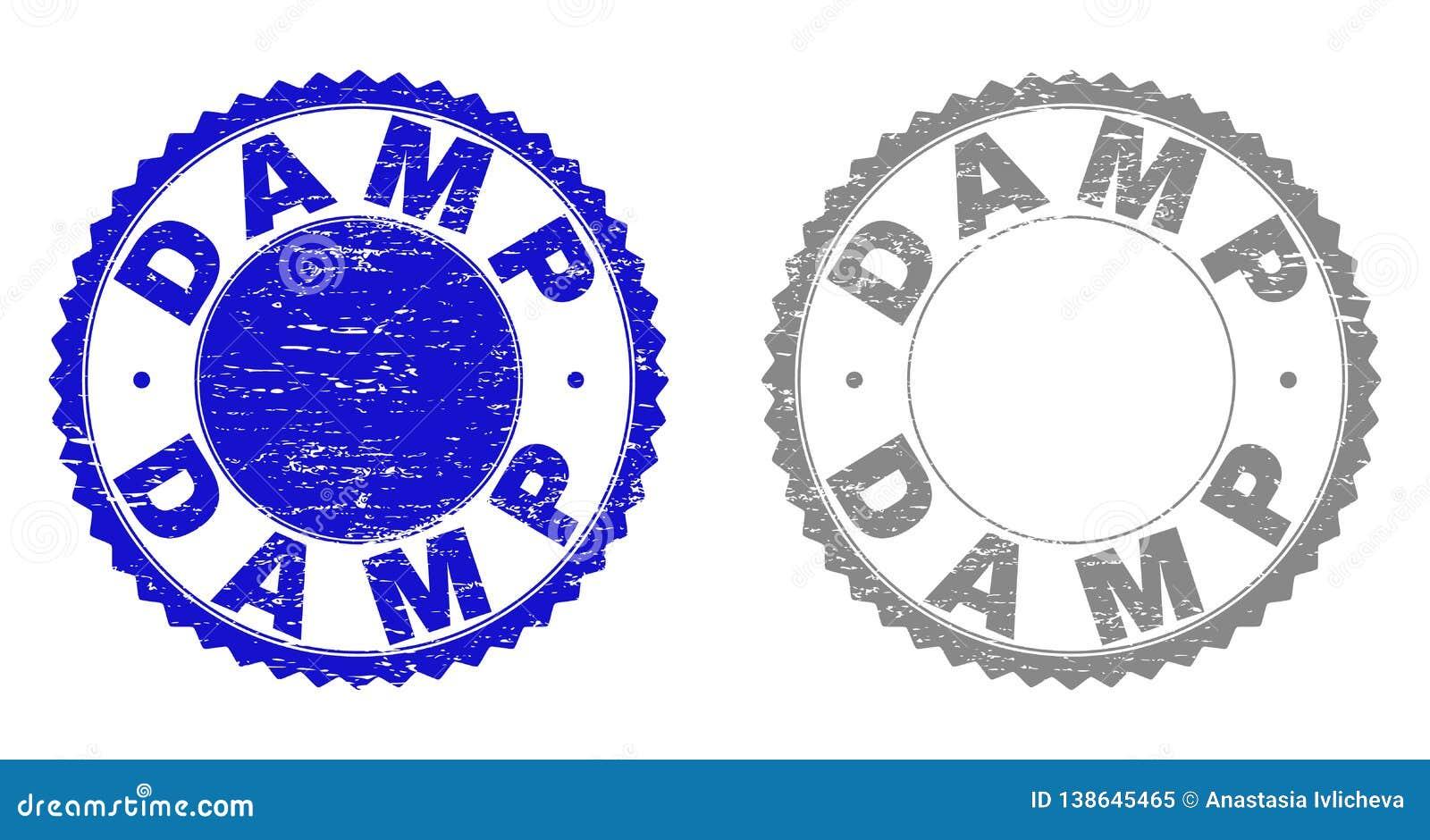 Grunge DAMP Scratched Stamps