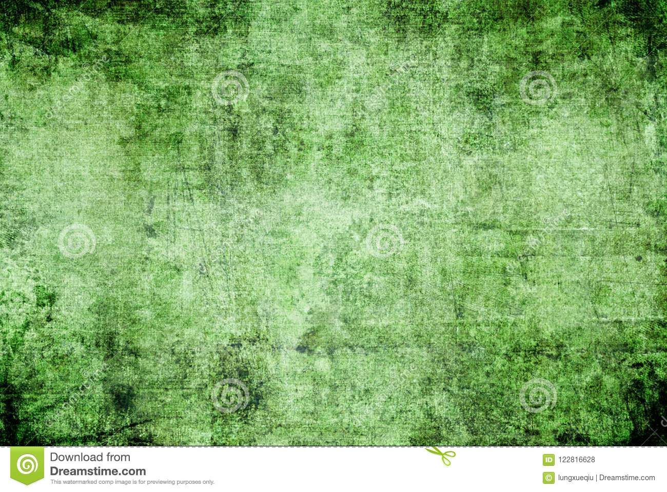 Grunge Dark Green Black Rusty Distorted Decay Old Abstract Canvas Painting Texture Pattern for Autumn Background Wallpaper