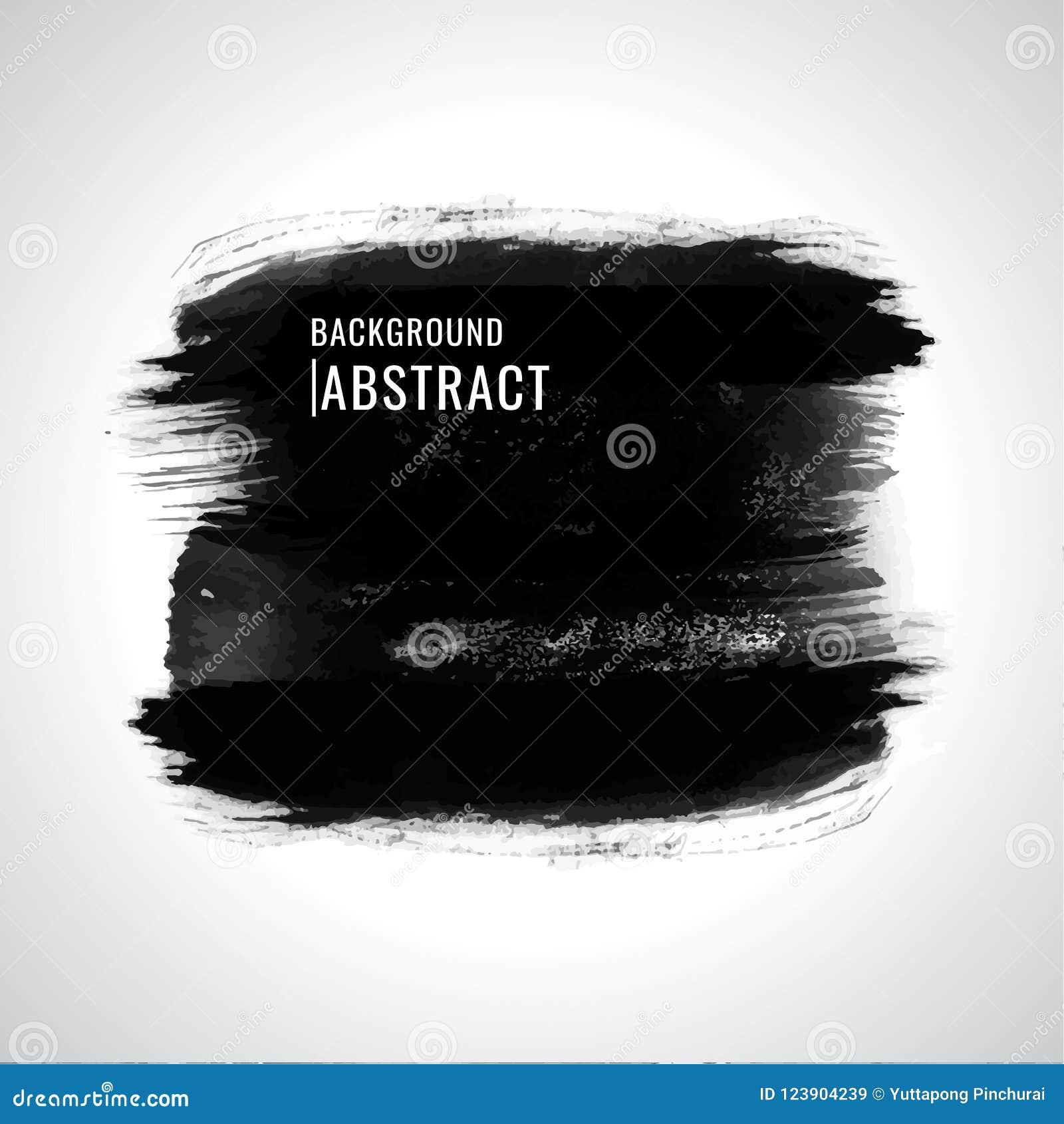 Grunge de vecteur watercolor Peinture noir Texture abstraite Sur