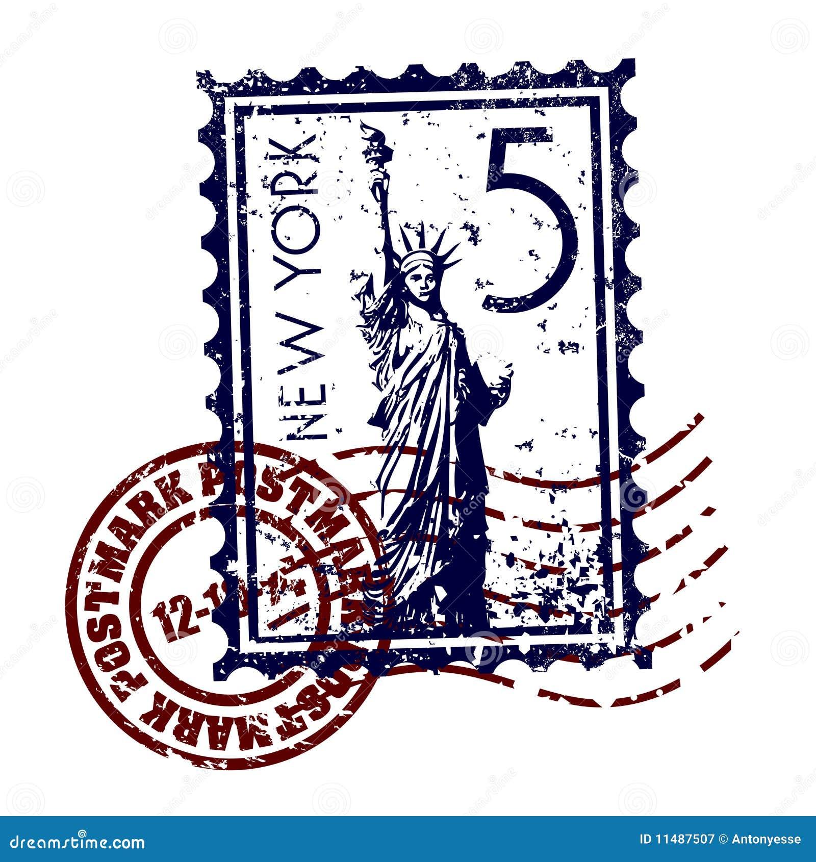 Grunge del estilo del sello o de los matasellos de Nueva York