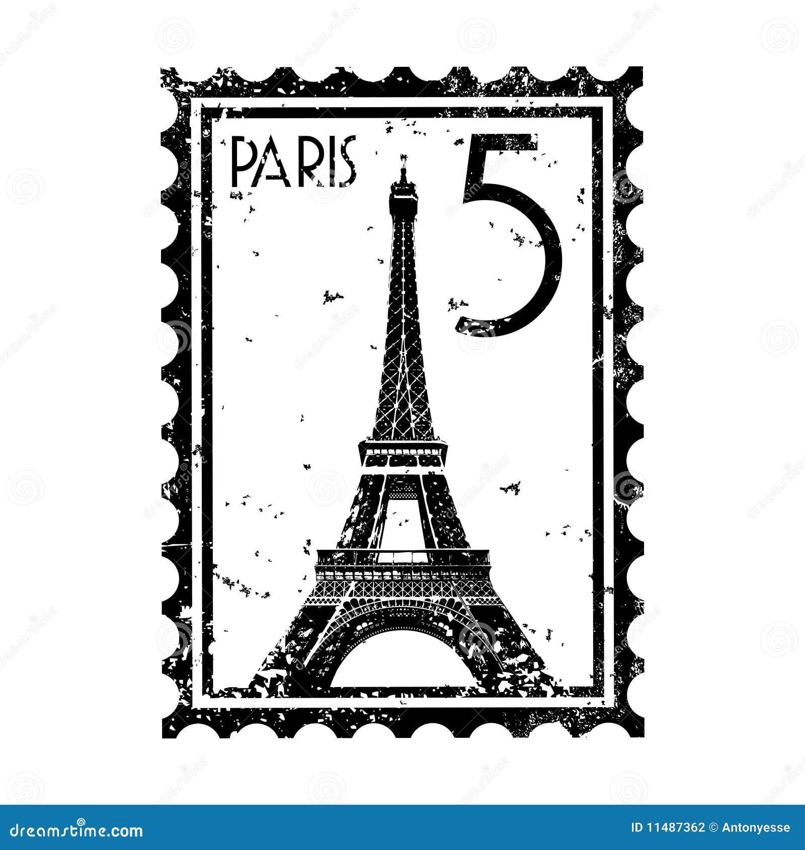 Grunge del estilo del sello o de los matasellos de París