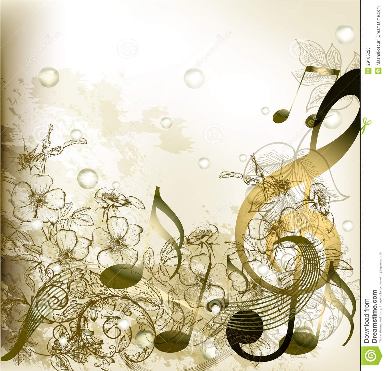 music notes backgrounds floral - photo #21