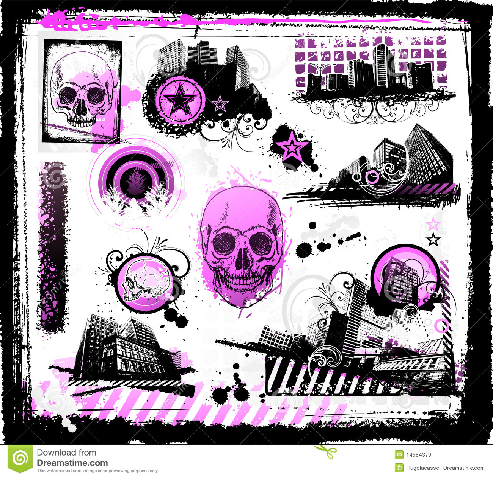 Grunge Emo Design Royalty Free Stock Images