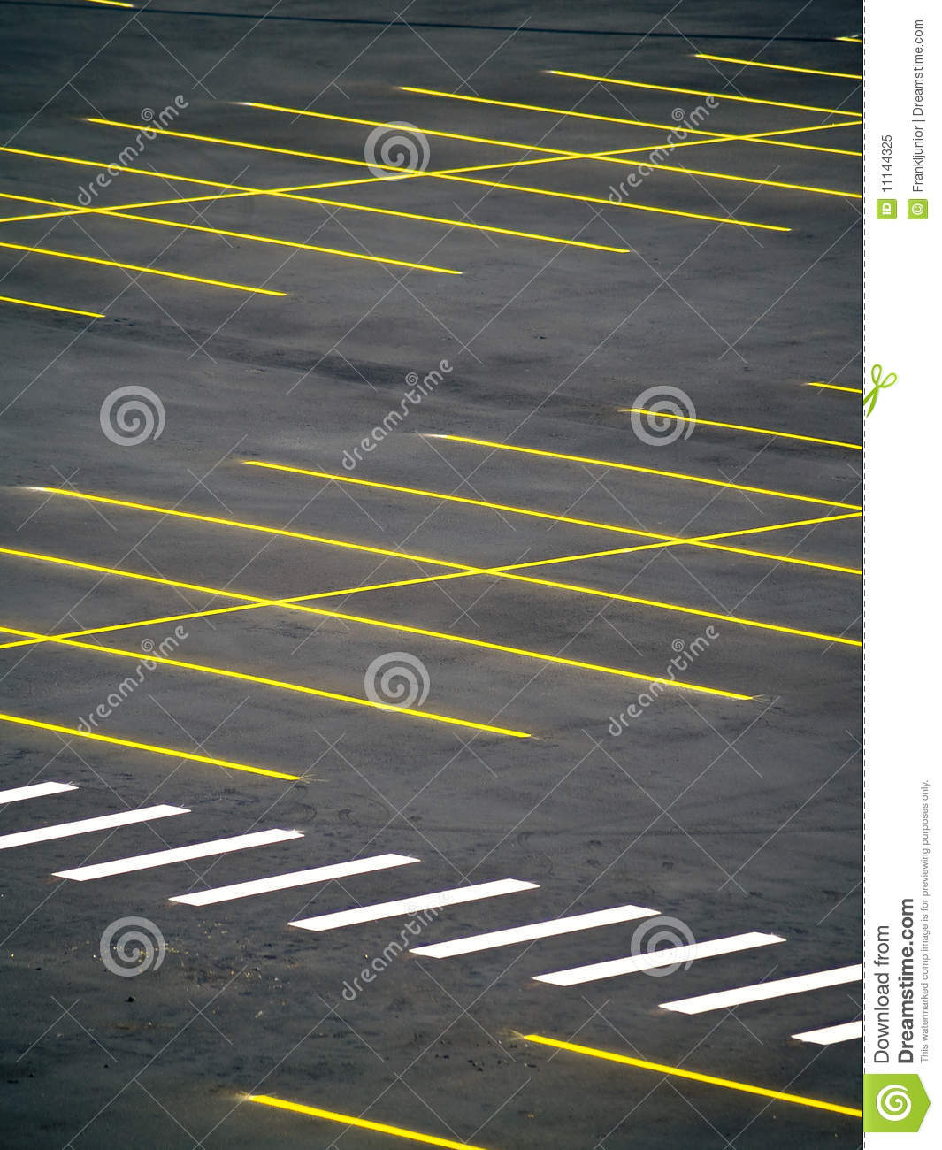Grunge Empty Parking Lot Stock Image. Image Of Convenient