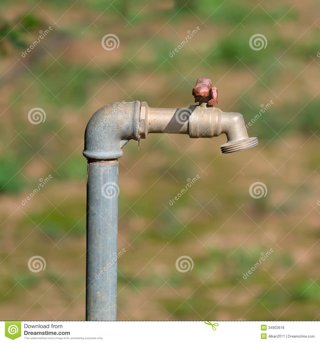 Vintage Garden Spigot Stock Photo Image 75109068