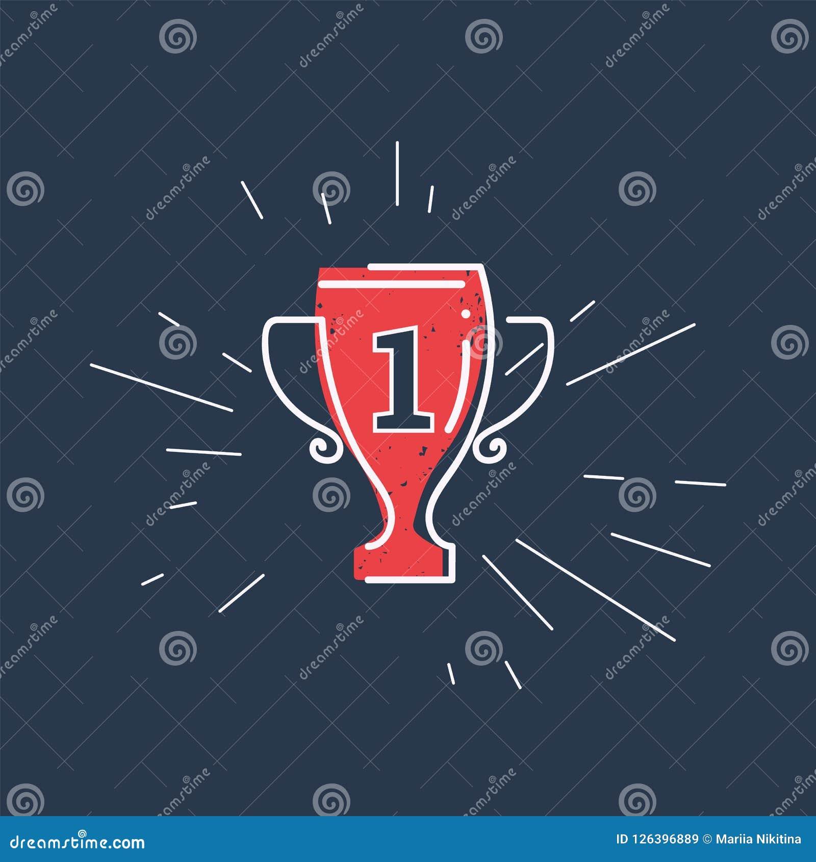 Grunge filiżanki nagroda zwycięzcy sporta rywalizacja