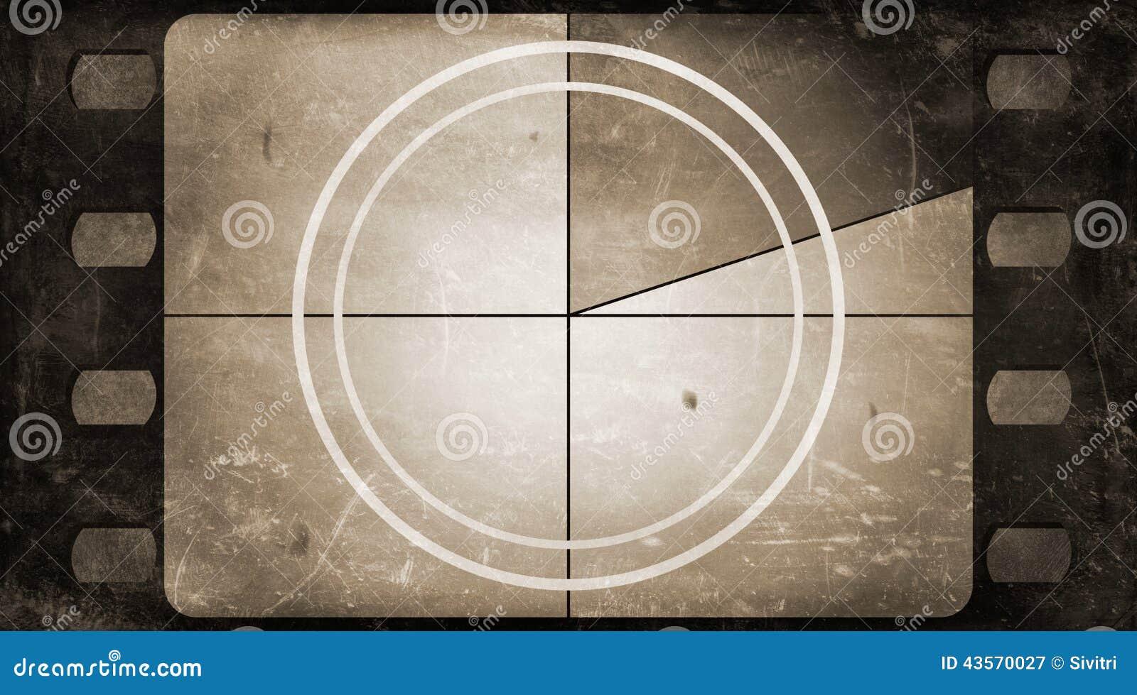 Grunge Camera Vector : Grunge film frame background with vintage movie countdown stock