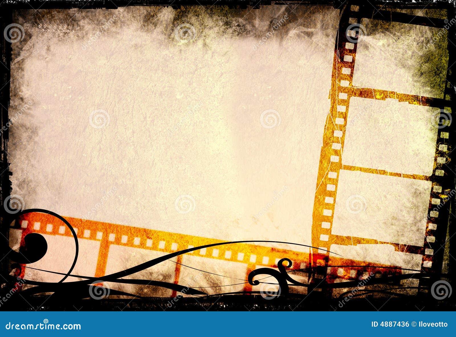 Grunge Film Strip Backgrounds Stock Illustration  Illustration of border, background: 4887436