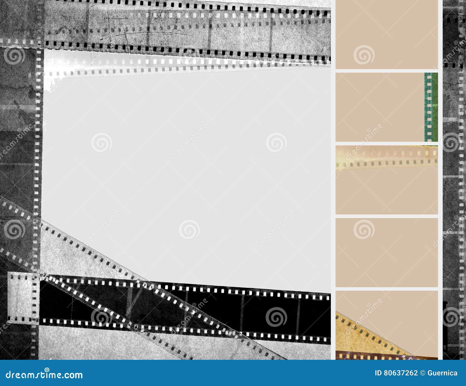 Grunge Film Strip Black White Vintage Background Stock Photo - Image ...
