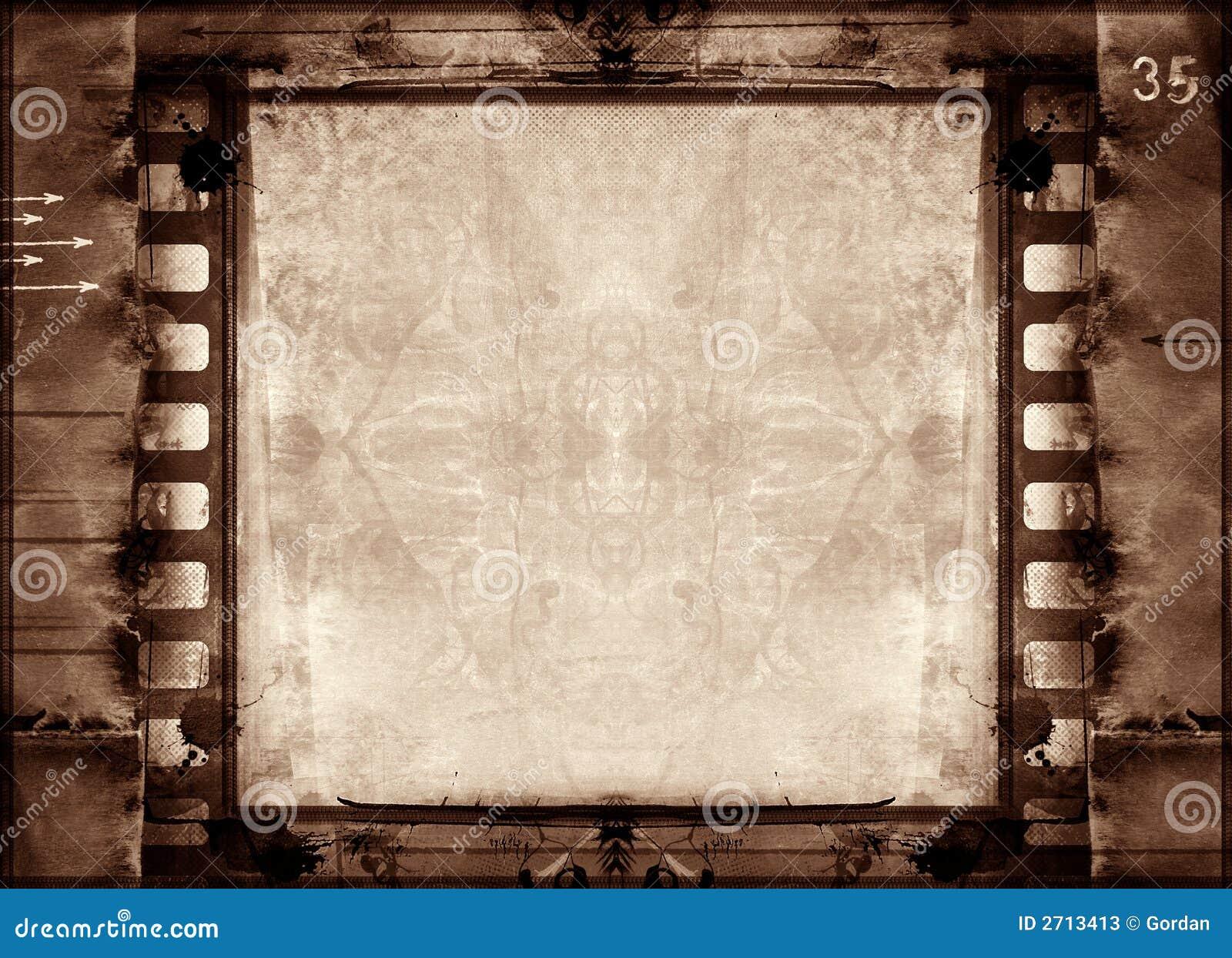 Grunge Filmfeld stock abbildung. Illustration von verwirrung - 2713413