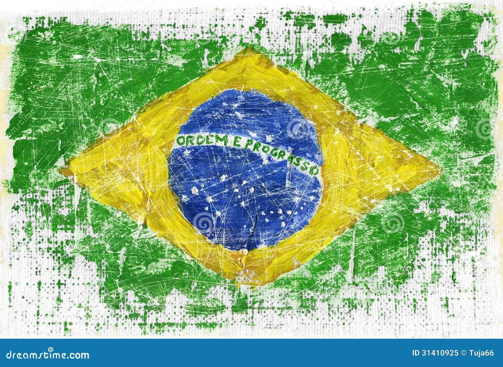 Handmade watercolor brazil flag brasil stock photos freeimages com - Royalty Free Stock Photo Brazil Flag