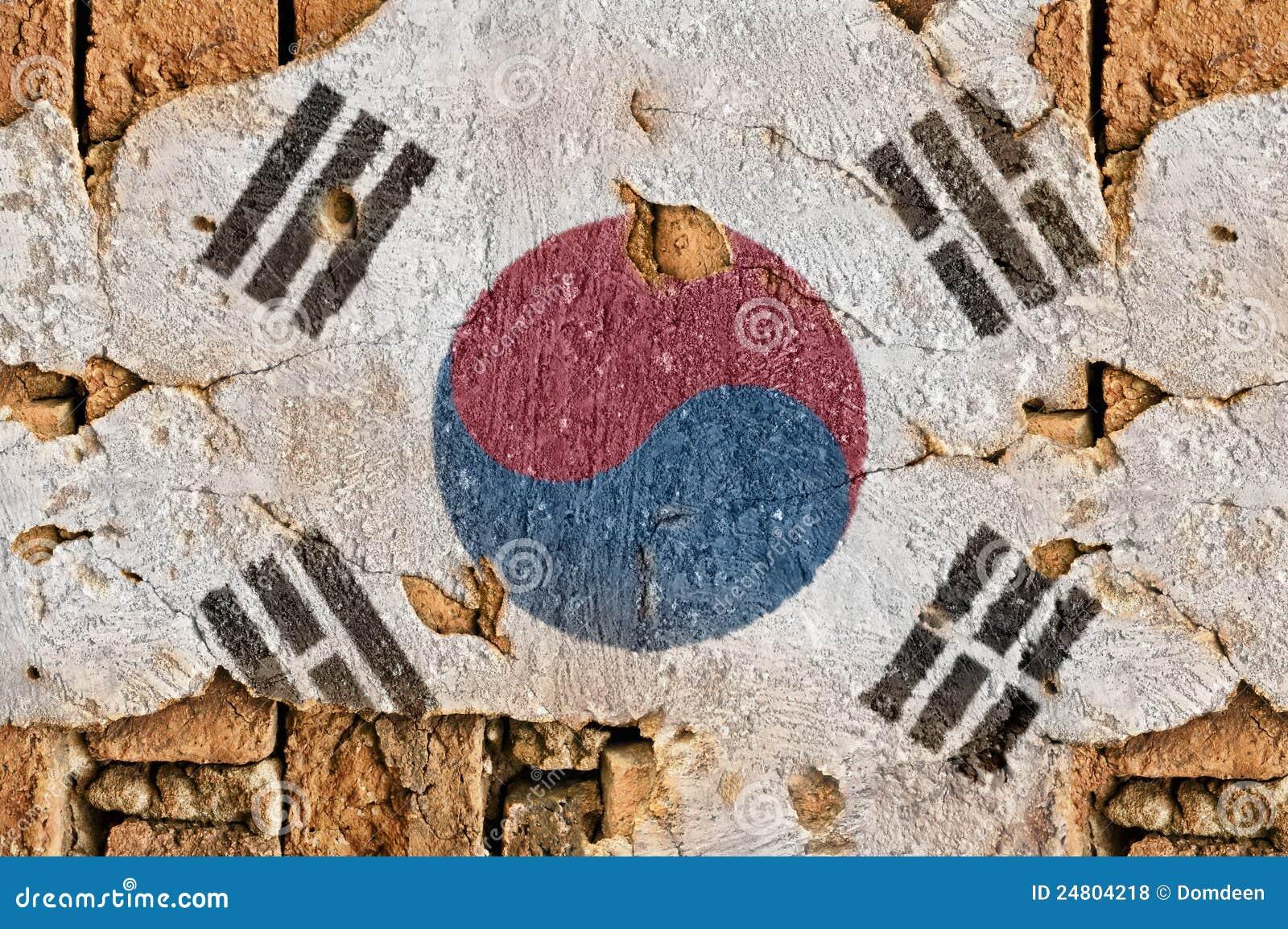 Grunge Flag Of South Korea