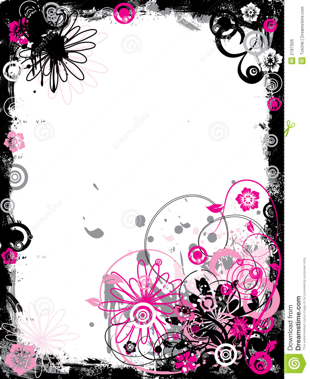 Royalty Free Stock Image  Grunge floral border  vectorVector Floral Border