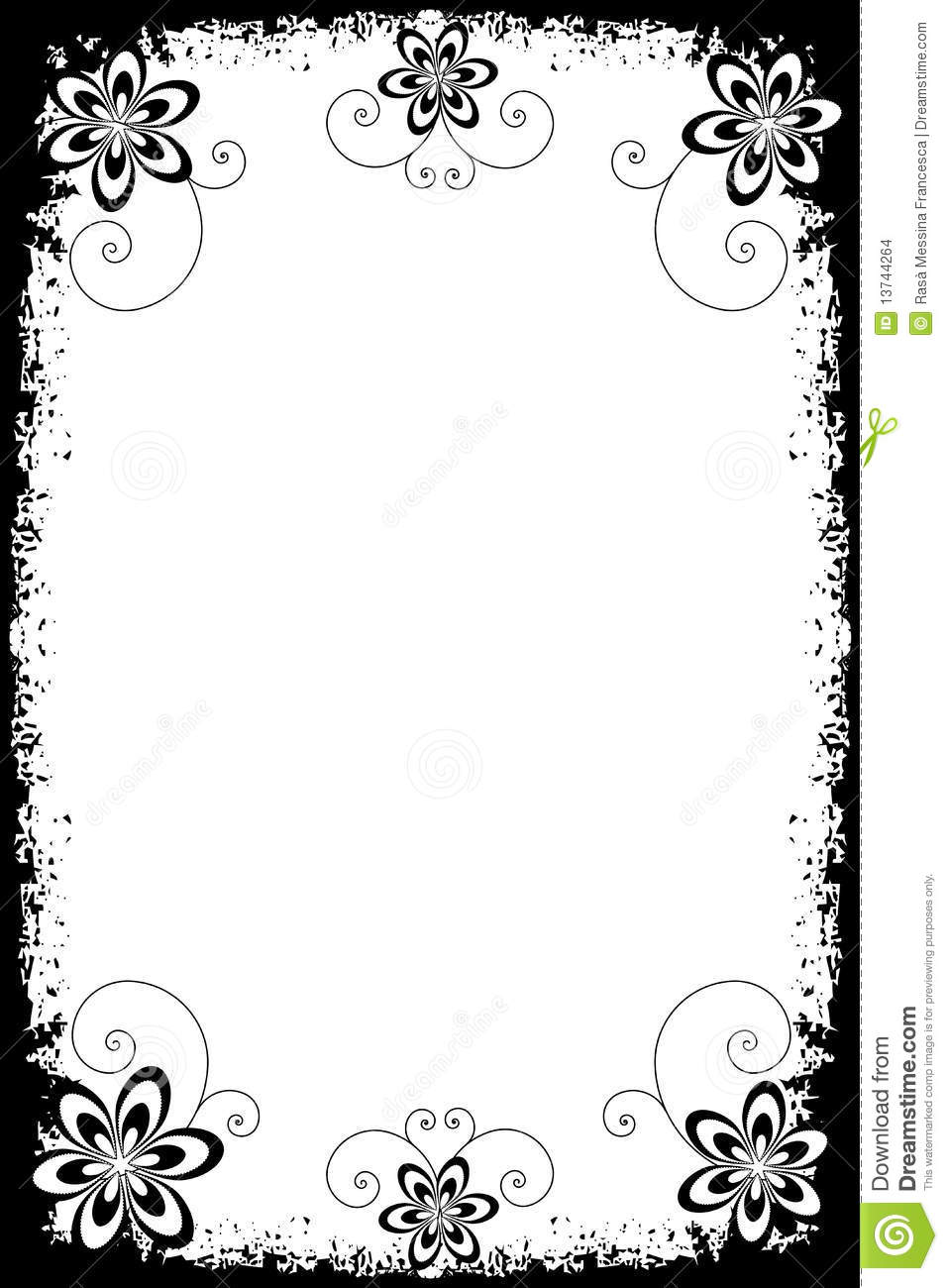 Grunge Floral Borders Stock Images - Image: 13744264