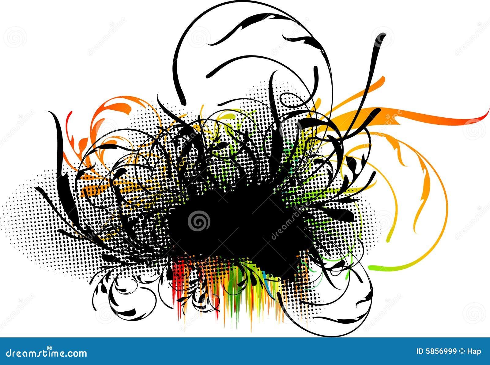 Grunge floral decoration royalty free stock images image 5856999 - Grune dekoration ...