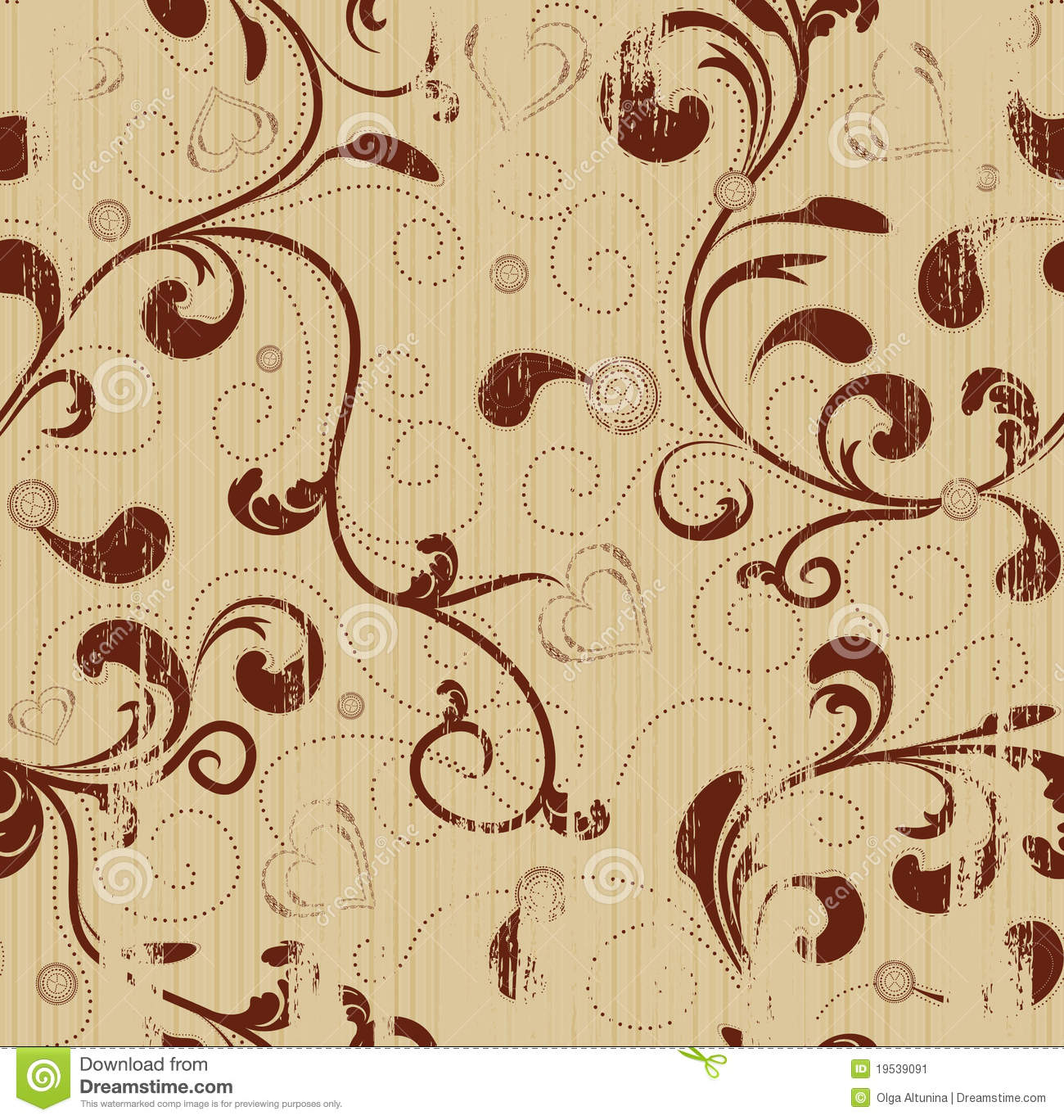 Grunge Floral Seamless Background Stock Vector ...