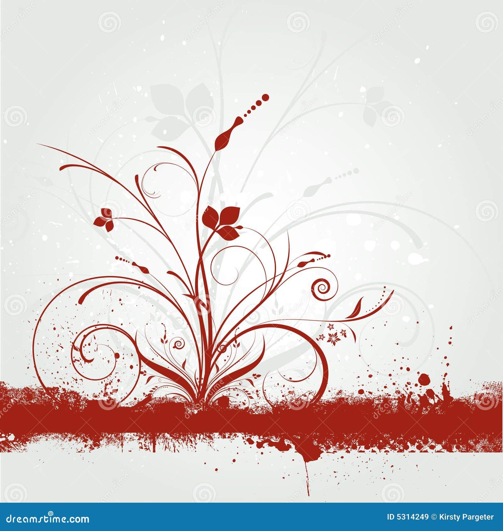 Download Grunge floreale illustrazione vettoriale. Illustrazione di nave - 5314249