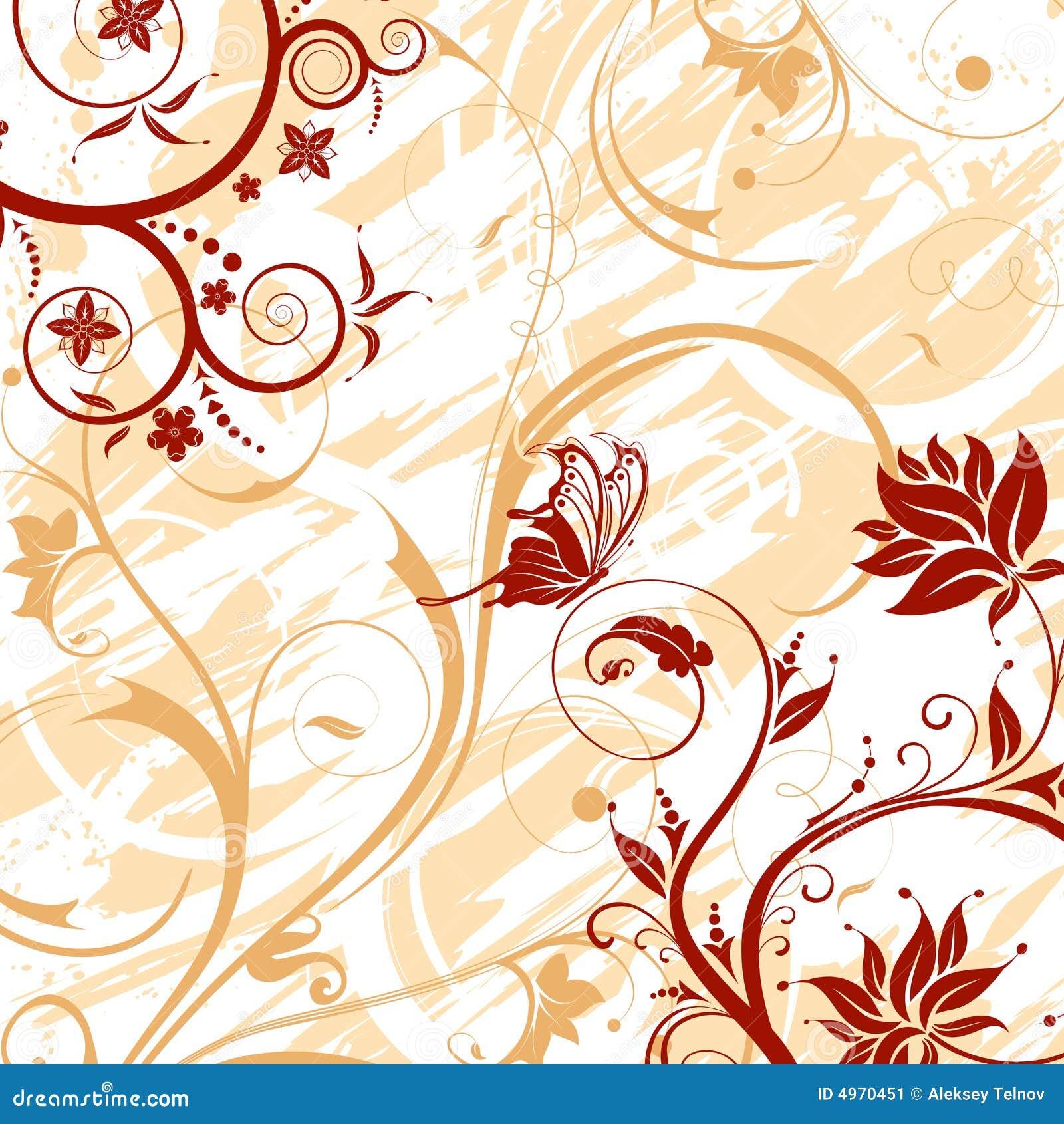Grunge flower background stock vector. Illustration of ...