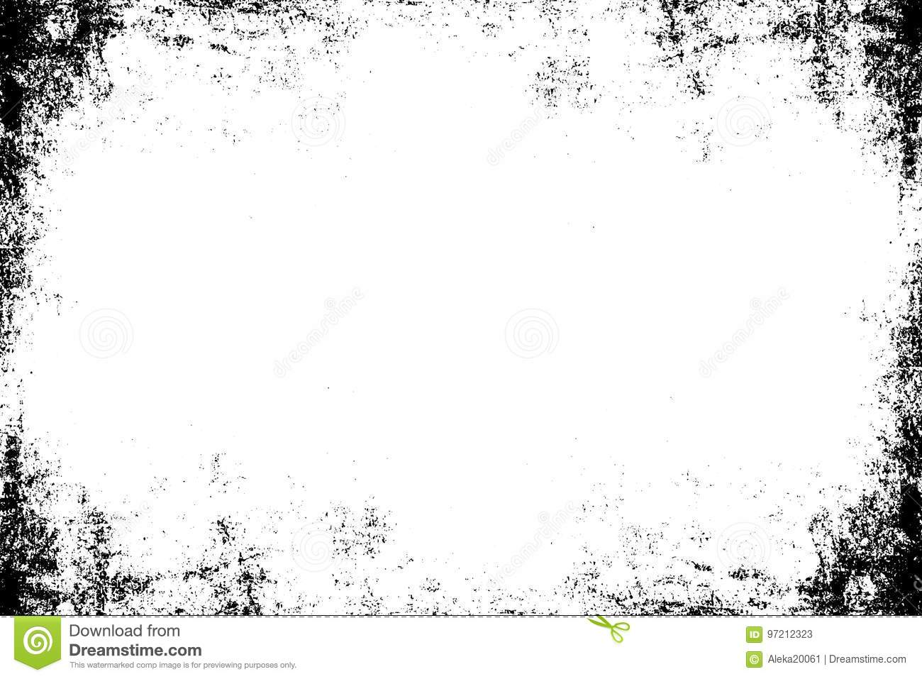 827903c8f91 Grunge frame symmetrical template. Old worn texture. Black white frame  background.