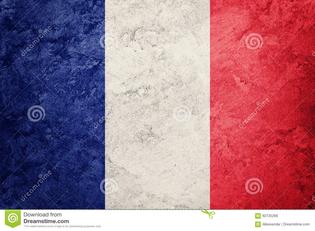 Download Grunge France Flag. France Flag With Grunge Texture. Stock Photo - Image of background, antique: 92735266