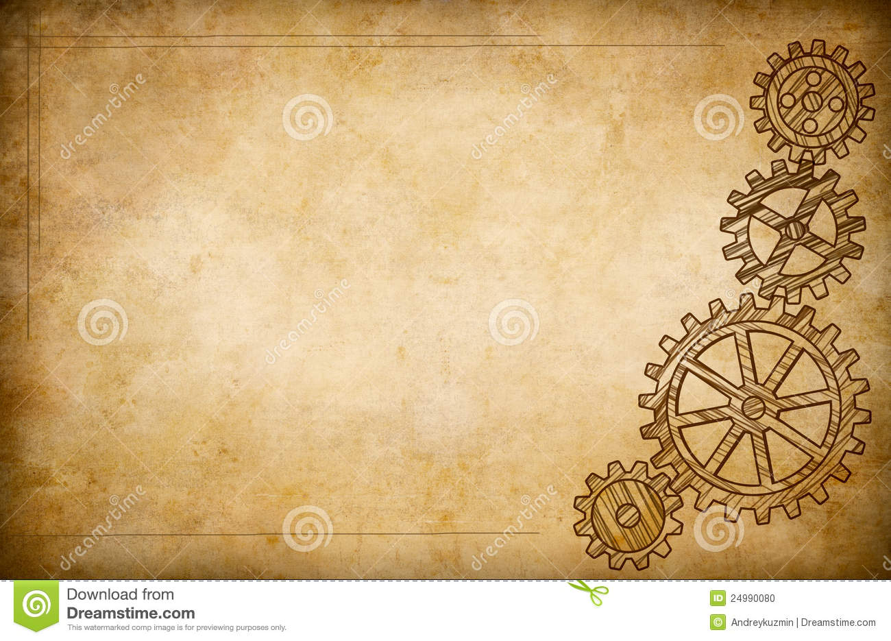 Grunge Gears And Cogs Drawing Background Stock Photo ...