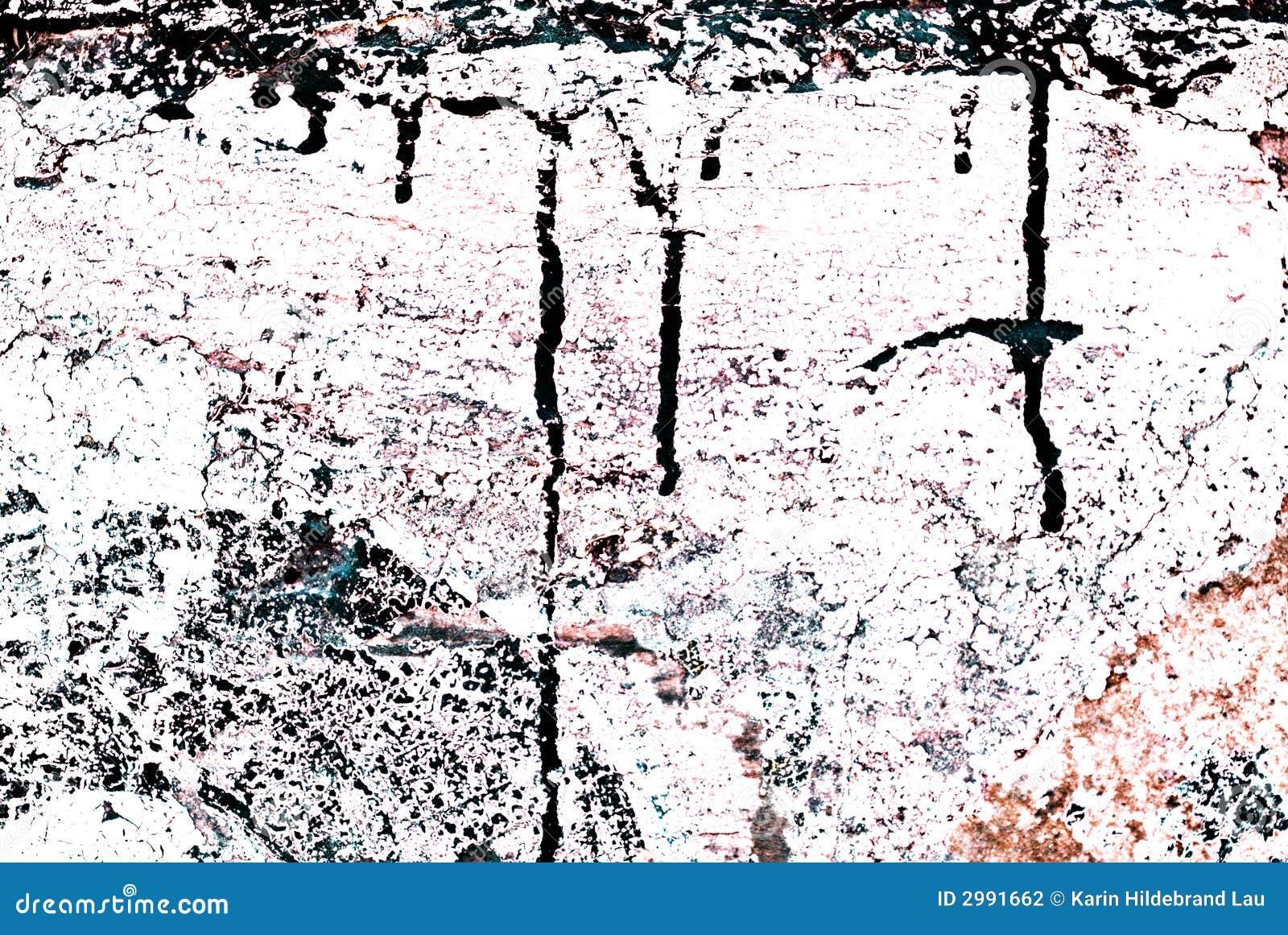 Grunge Geschilderde Bakstenen muur