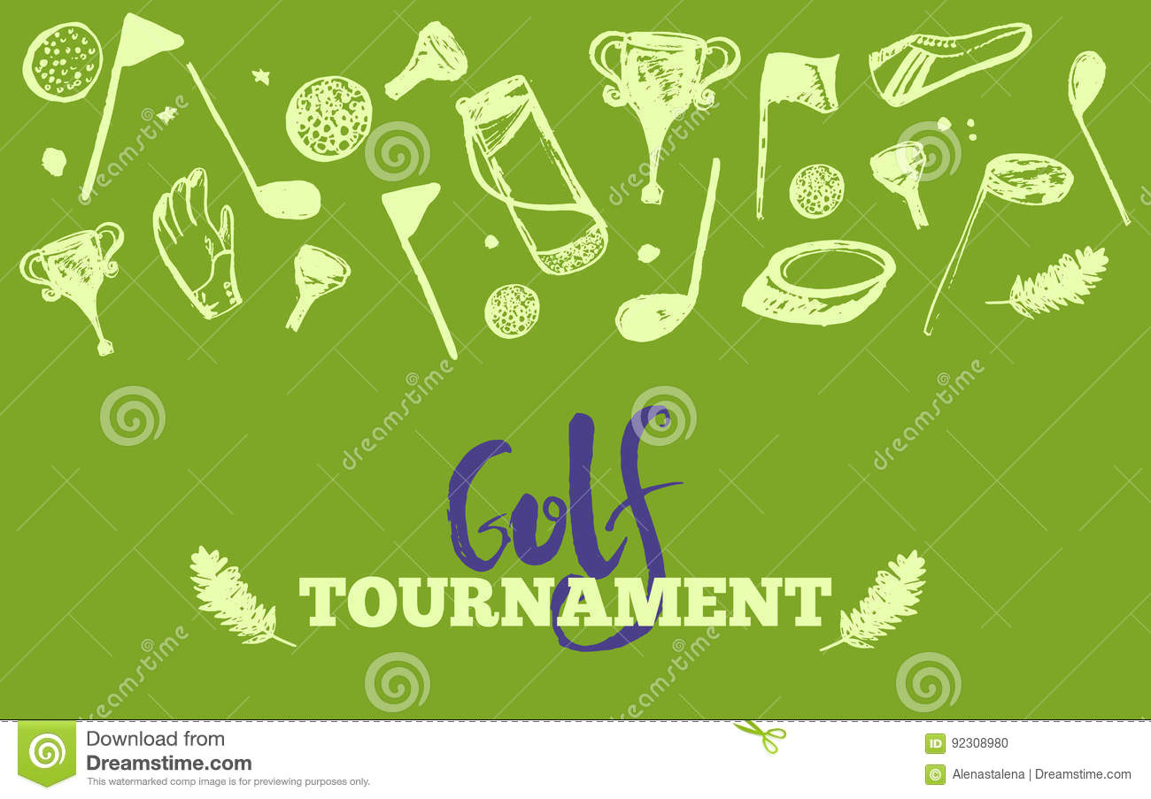 Poster design site - Grunge Golf Club Tournament Site Header Template Poster Or Banner Vector Design Stock Vector