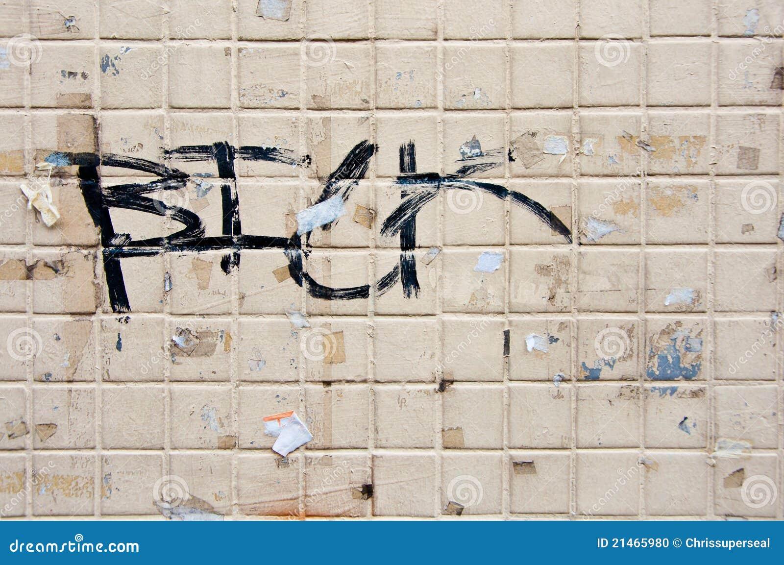 Graffiti wall tiles - Dirty Graffiti Grunge Old Wall