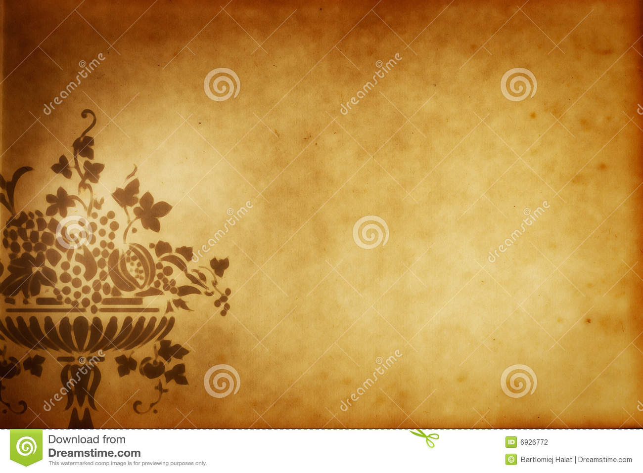 Grunge Greek Vase Paper Stock Photography Image 6926772