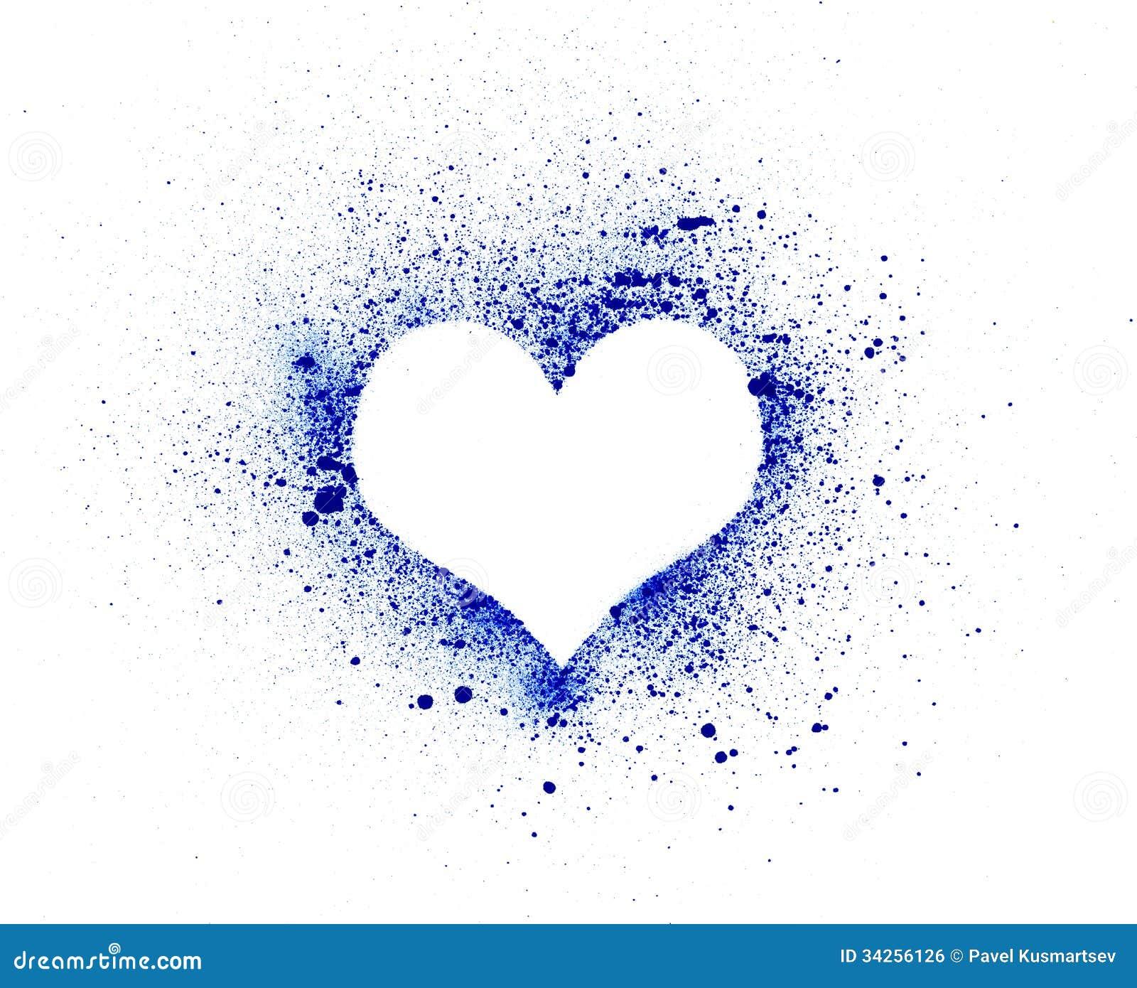 Grunge Heart, Ink Splatter Royalty Free Stock Image ...