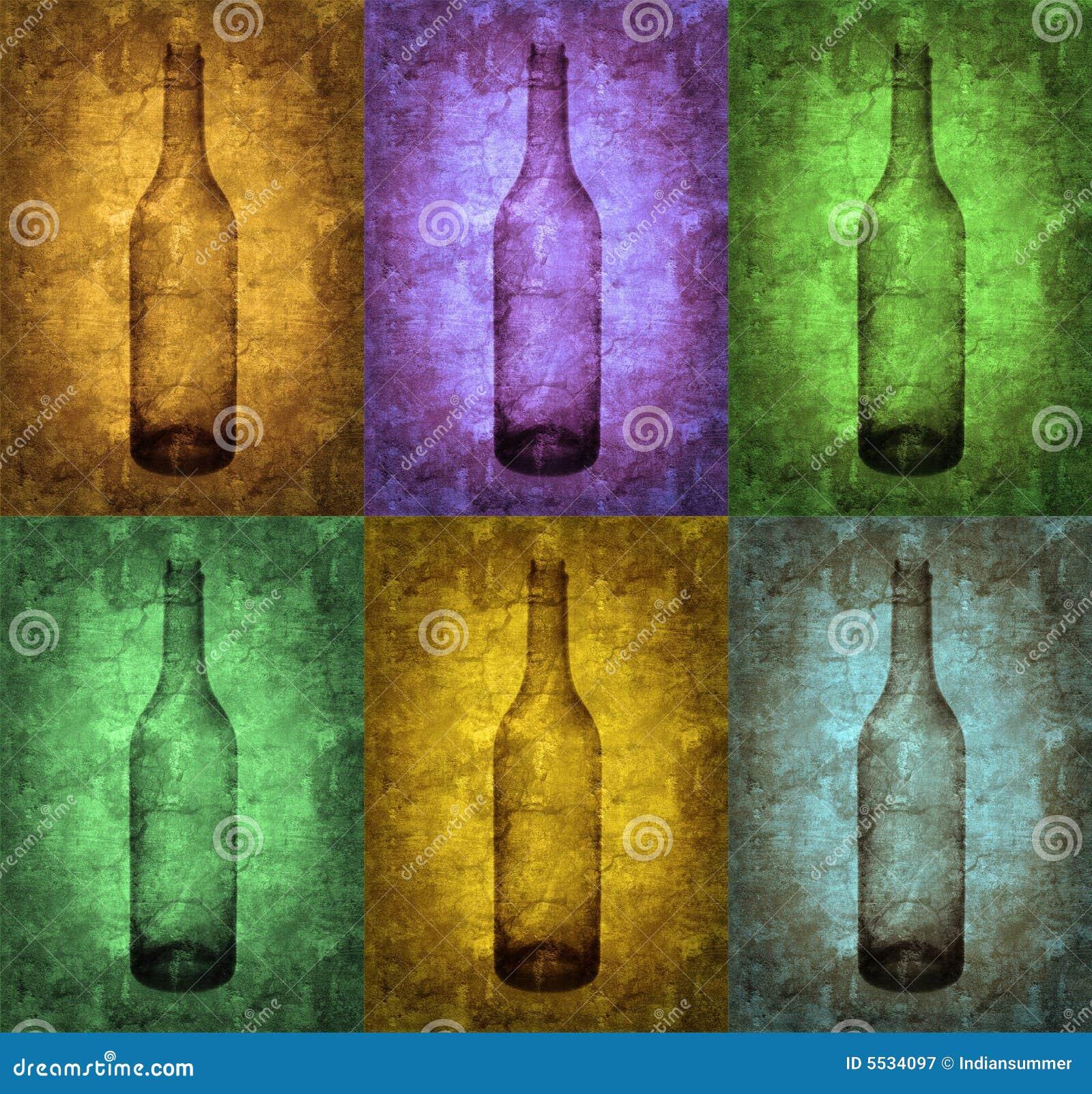 Grunge ilustrację butelki