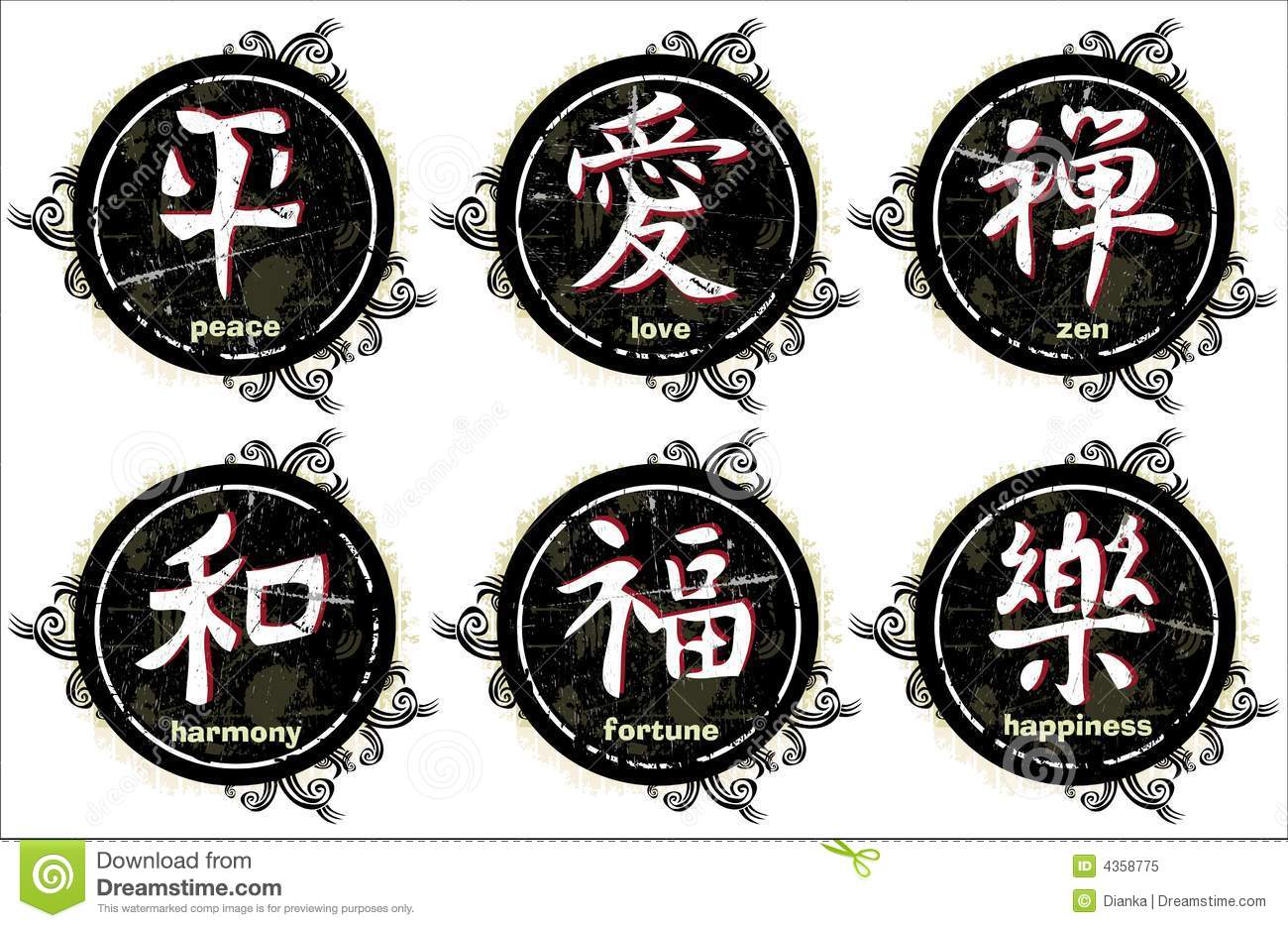 Grunge Japanese Letter (kanji) Stock Illustration ...