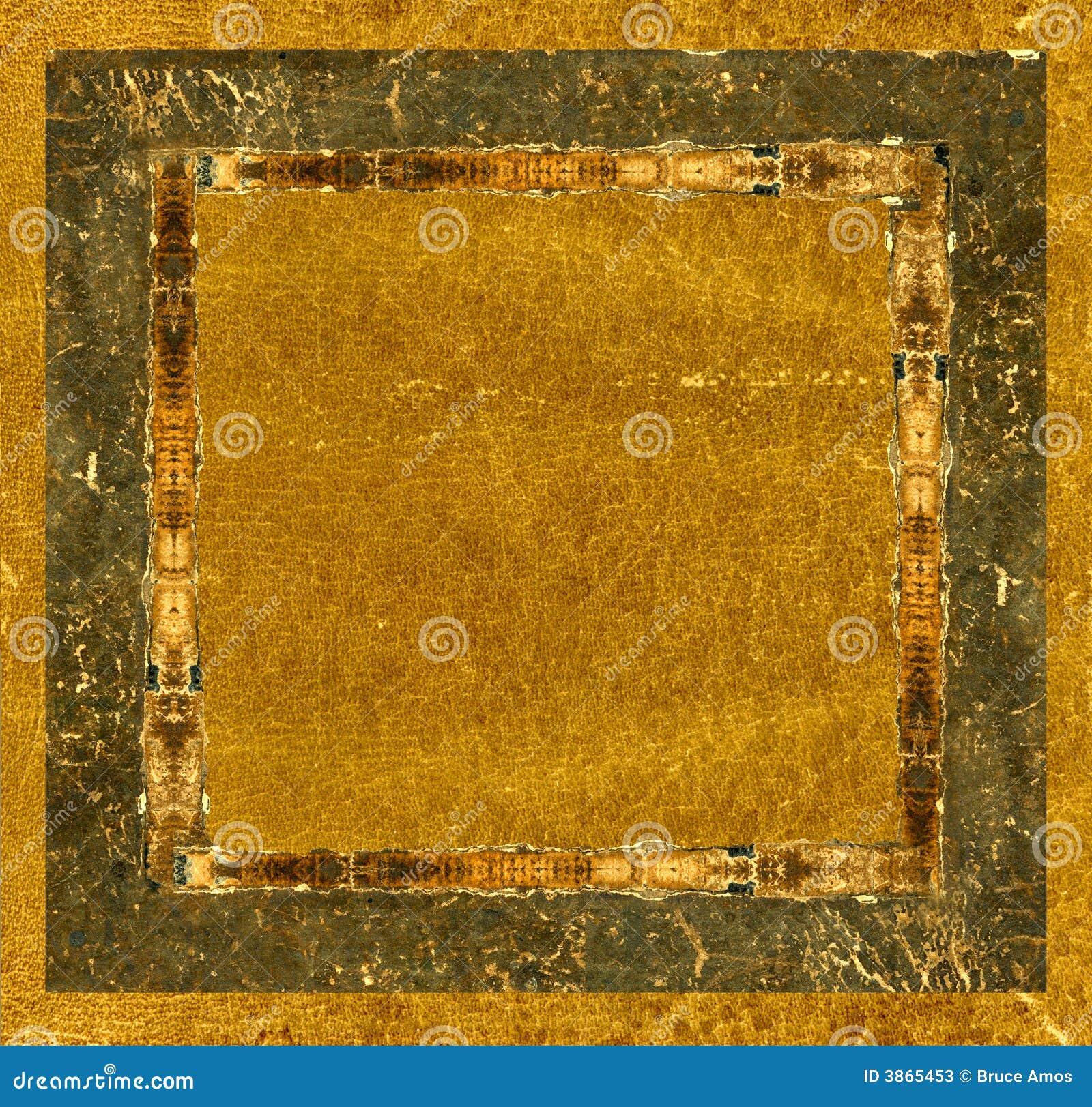 Grunge Lederner Bilderrahmen Stockbild - Bild von leder, sepia: 3865453